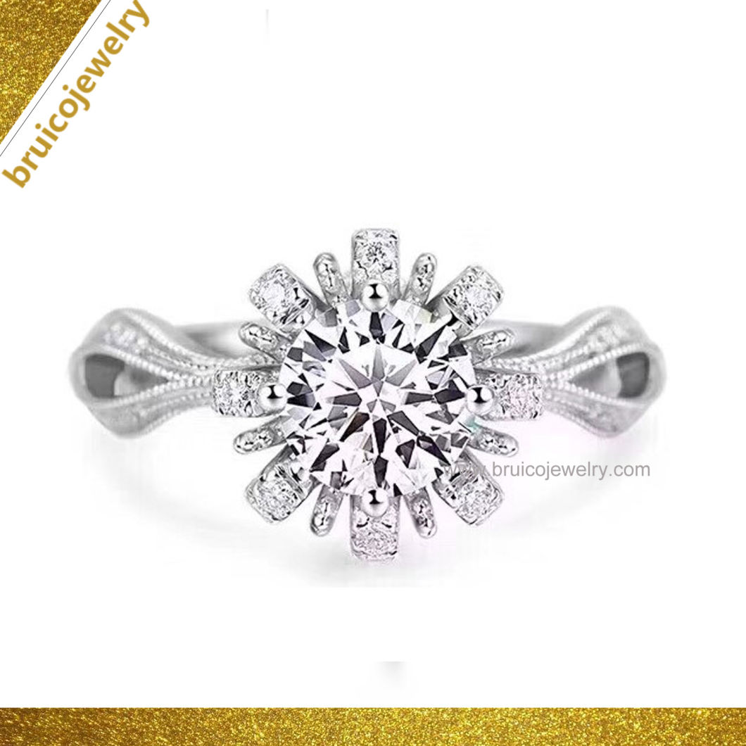 Custom Luxury Hot Sale Fashion Jewelry Diamond Ring Wedding