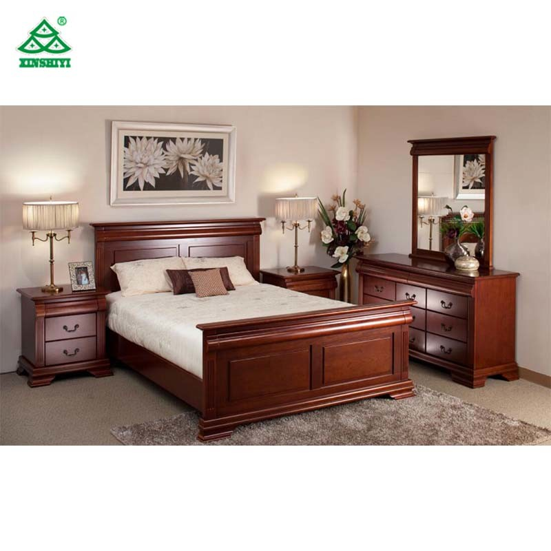 New Design Bedroom Furniture Wooden Bed