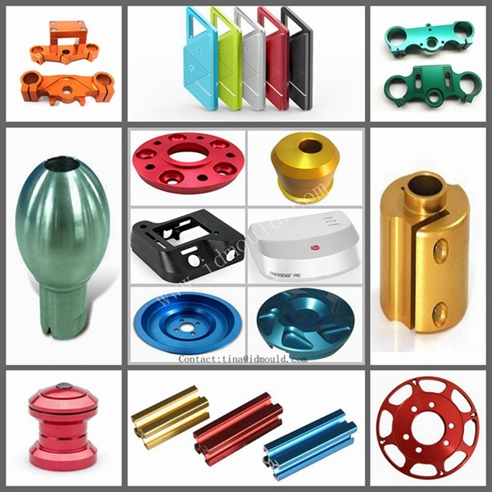 Aluminum CNC Machining Parts with Polish and Red Anodizing