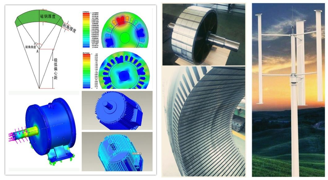 Ff-100kw/350rpm/AC690V Permanent Magnet Alternator (PMG/PMA/Hydro)