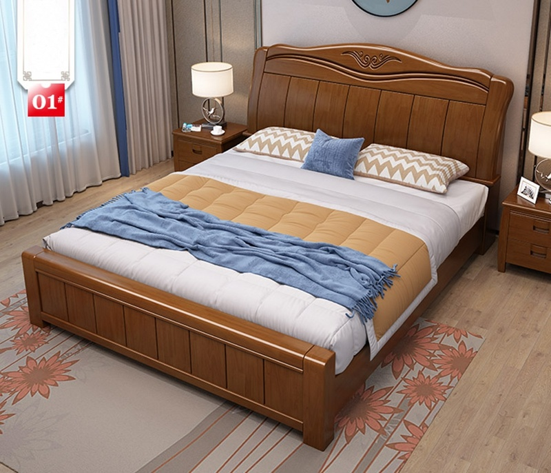 Bed Oak Bedroom Furniture Modern