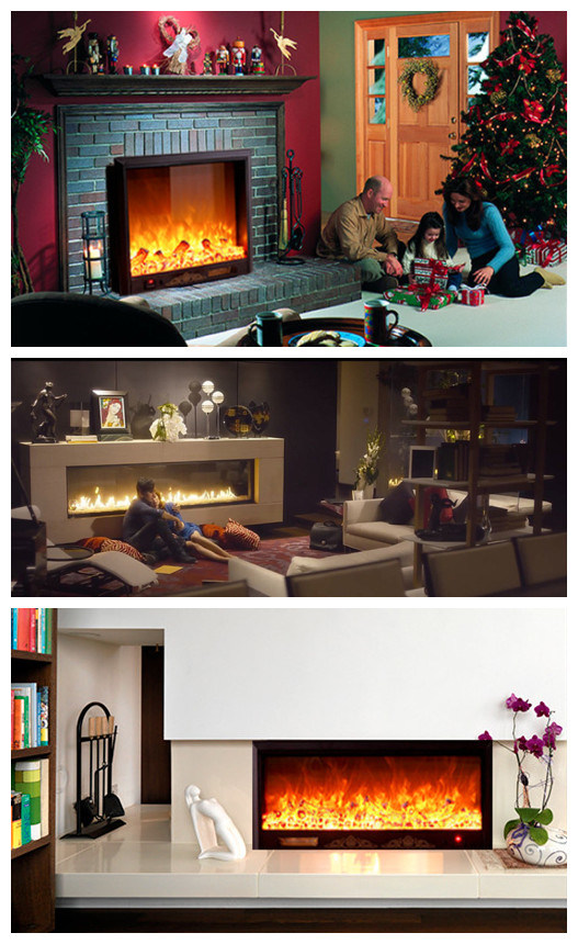 Hotel Furniture LED Lights Electric Flame Fireplace (A-804)