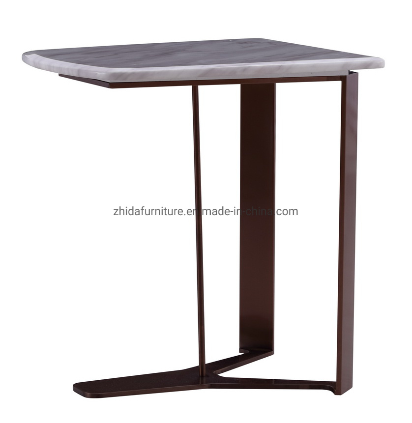 China Champagne Gold Metal Side Table