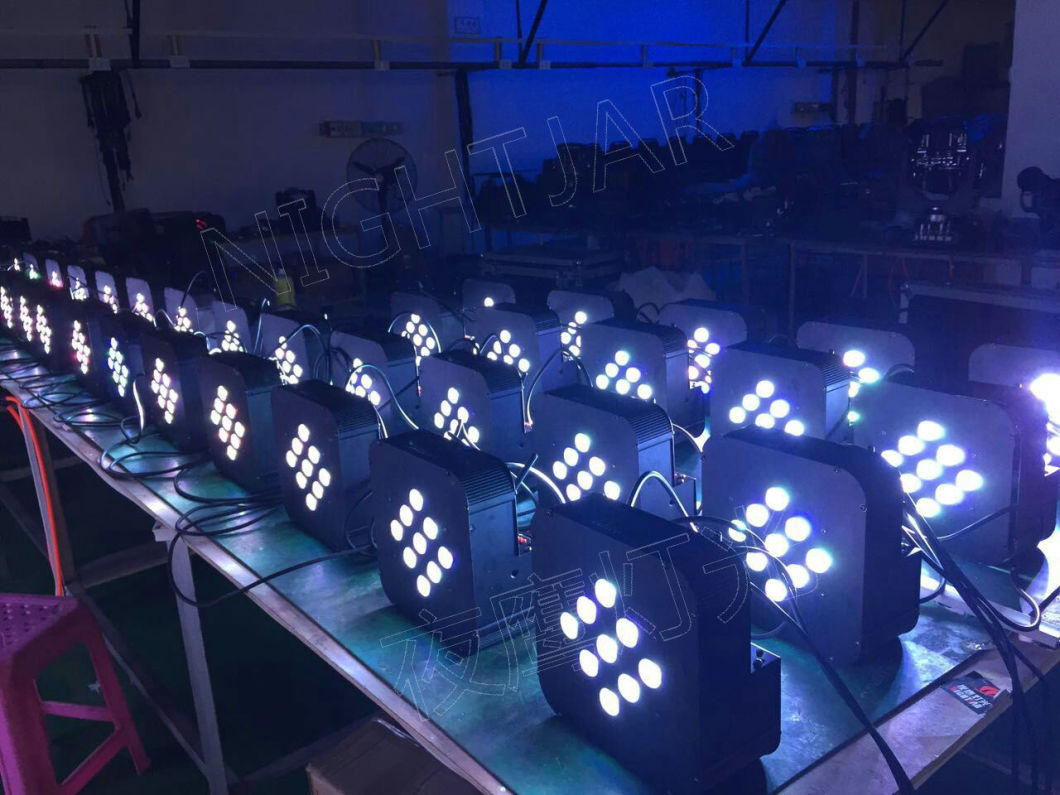 9PCS 3W 3in1 LED Flat PAR Light with Battery Operating