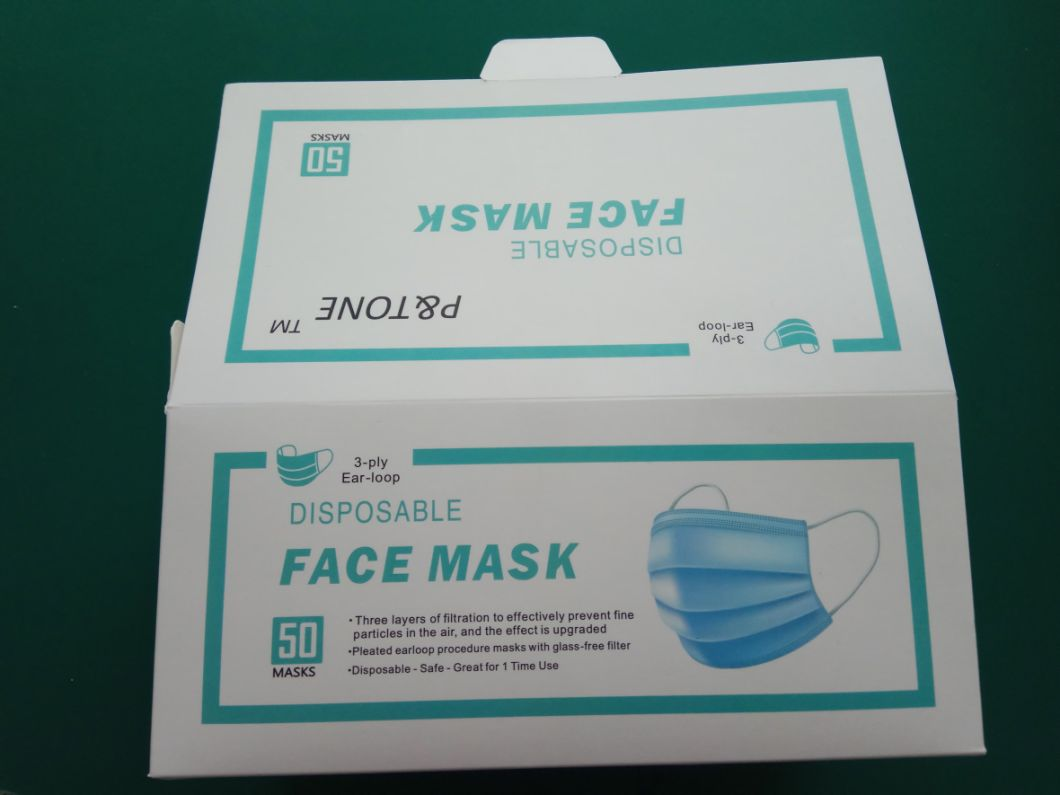 FDA&Ce 3ply Health Face Mask Disposable Facemask