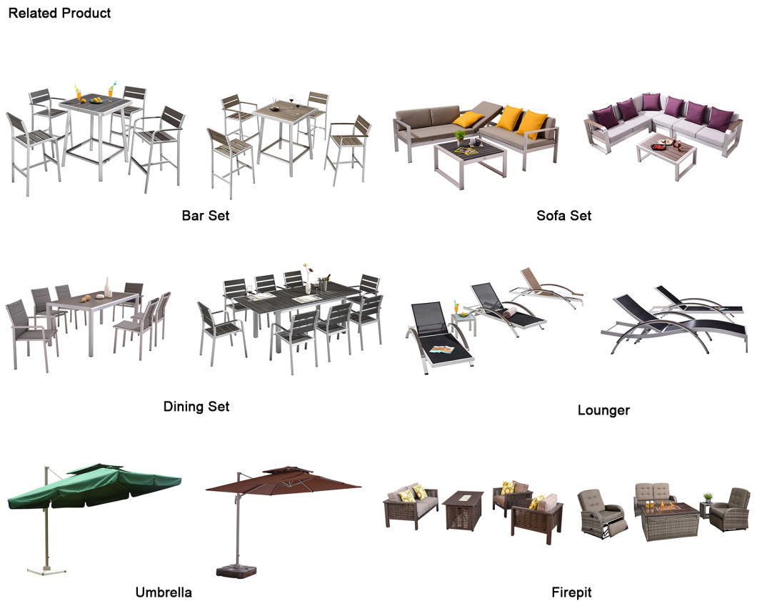 Leisure Touch Folding Table and Chair Garden Sets