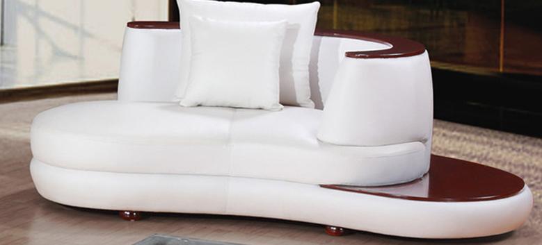 China Italy Modern Heated Leather Sofa