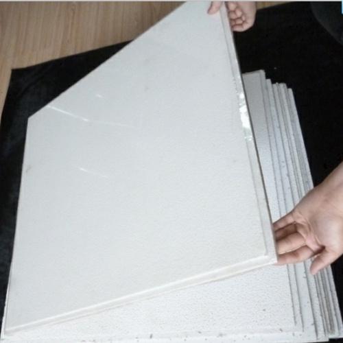 China Mineral Fiber Ceiling Tile Fine Fissured Pine Hole
