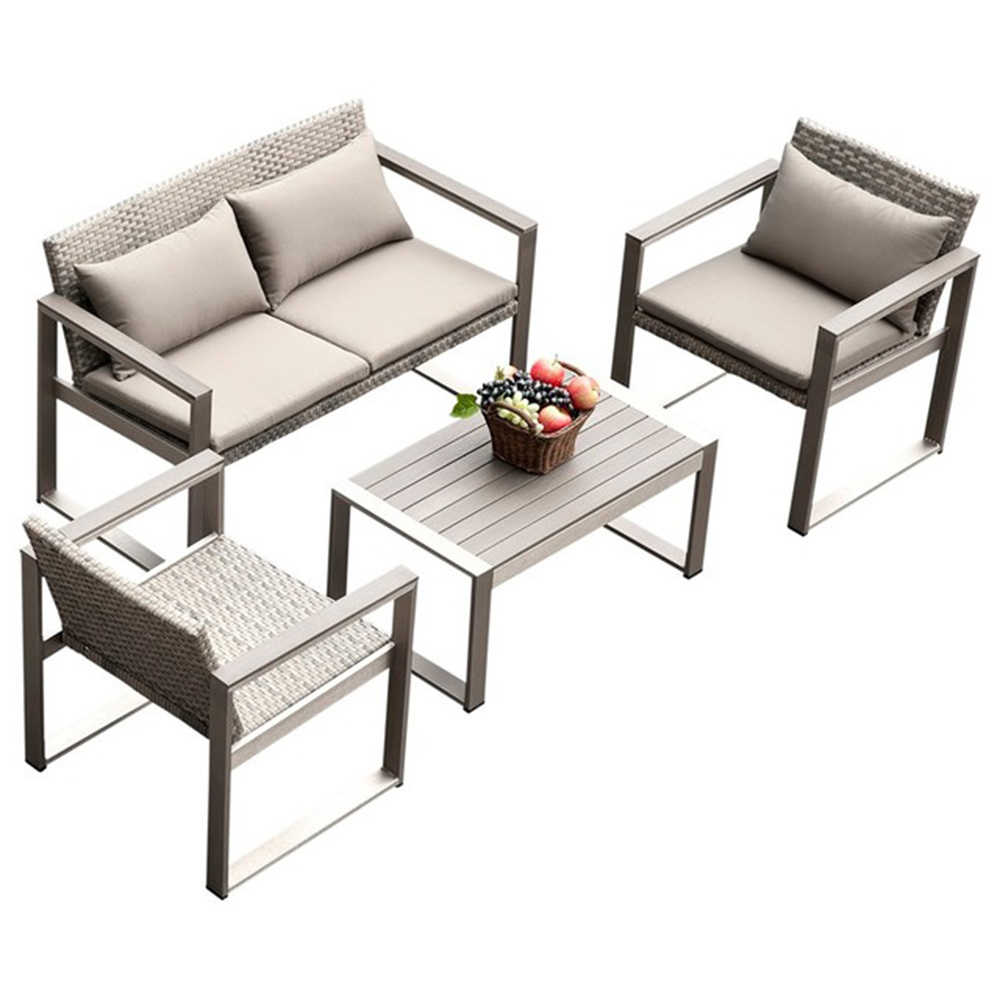 Poly Wood Table Garden Rattan Sofa Bed