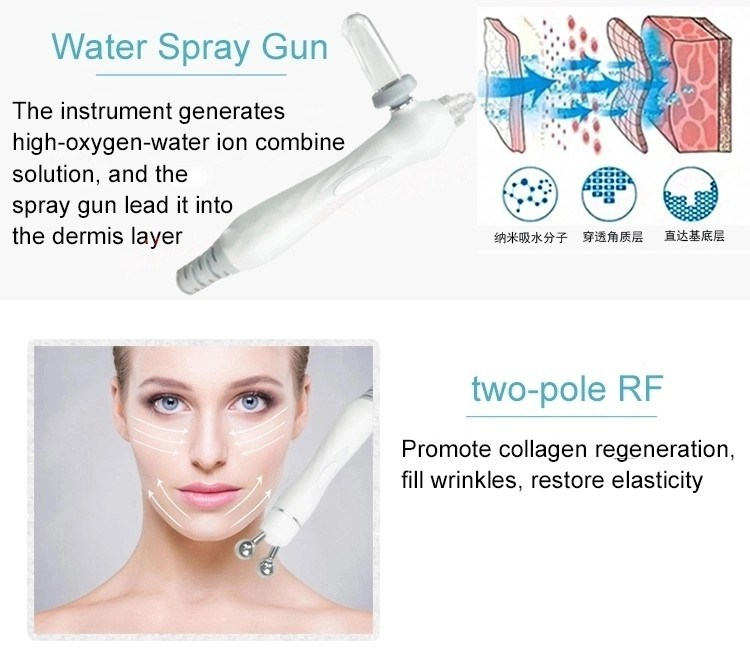 Portable Skin Clean Crystal Electroporation Multifunction Facial Microdermabrasion Machine Parts for Sale