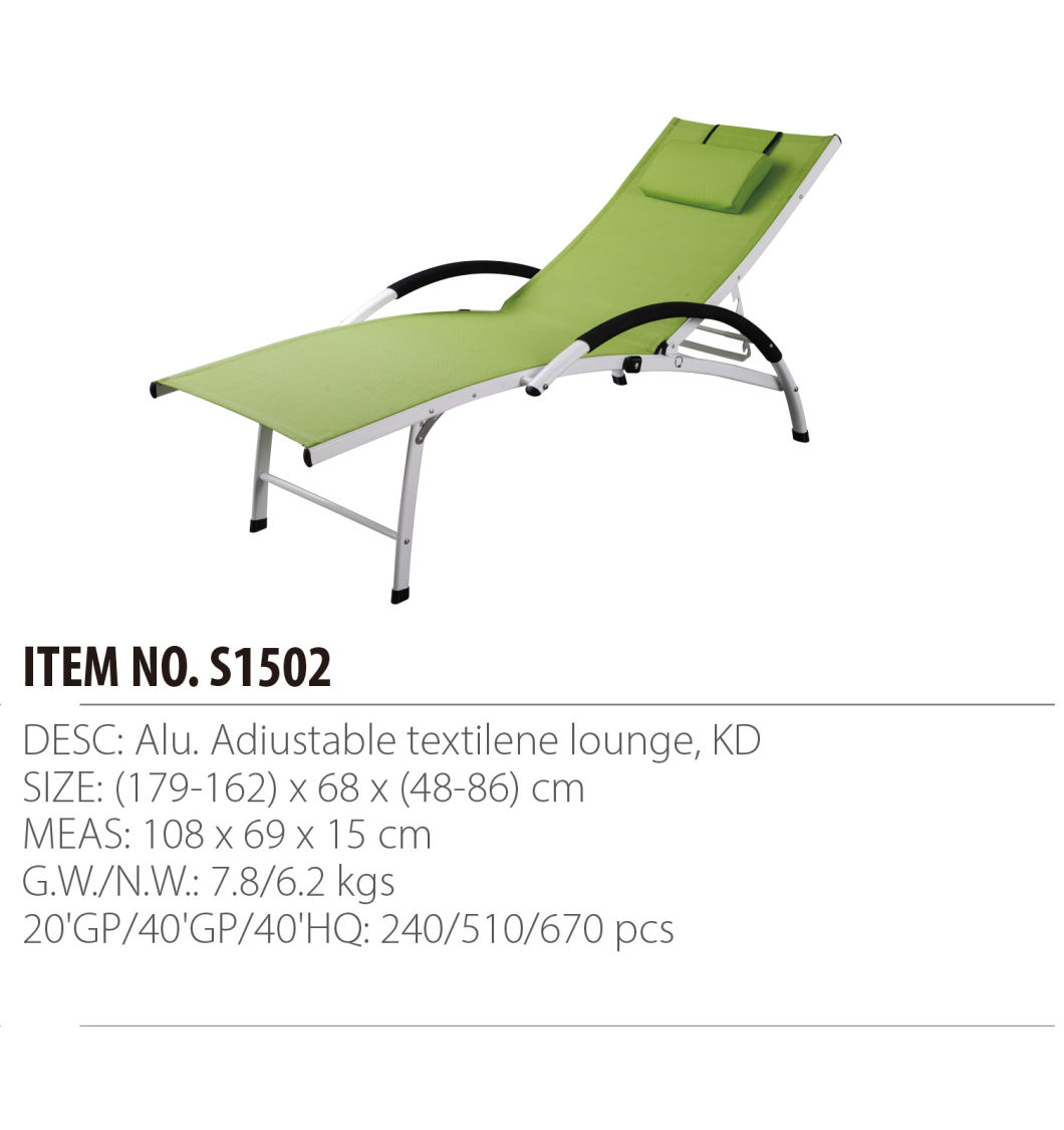 China Aluminum Patio Chaise Lounge Garden Lounge Beach Chair