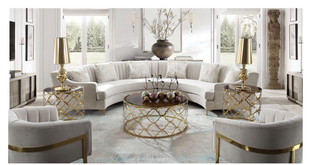 China Modern White Luxury Chesterfield