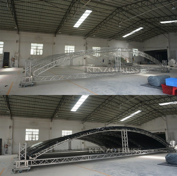 China Aluminum Arched Roof Truss Dome Roof Truss System ...