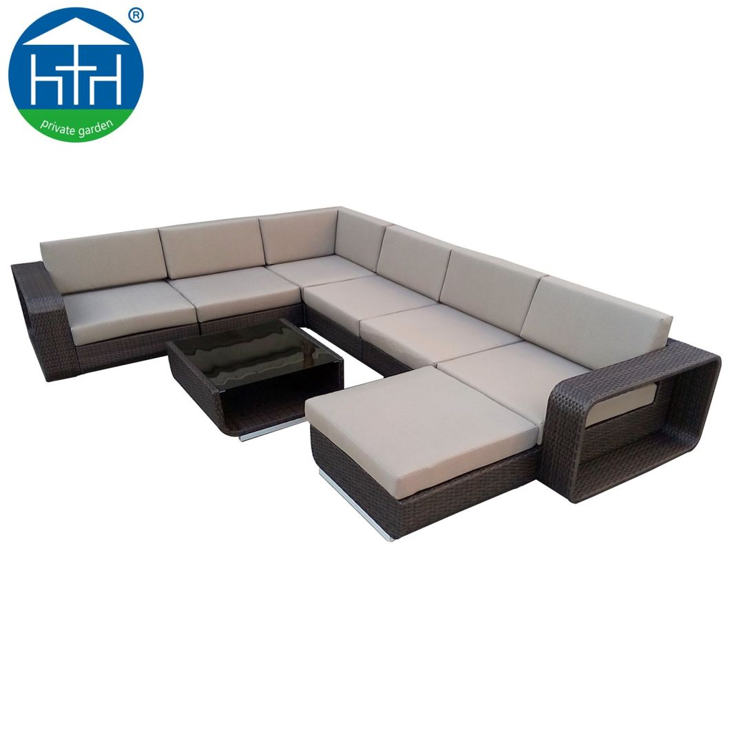 China Modular Sectional Well Handmade Big Loading Outdoor Patio Furniture  Sofa Set