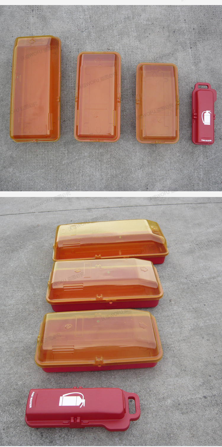 China Hips Cover Transparent Fire Extinguisher Cabinets