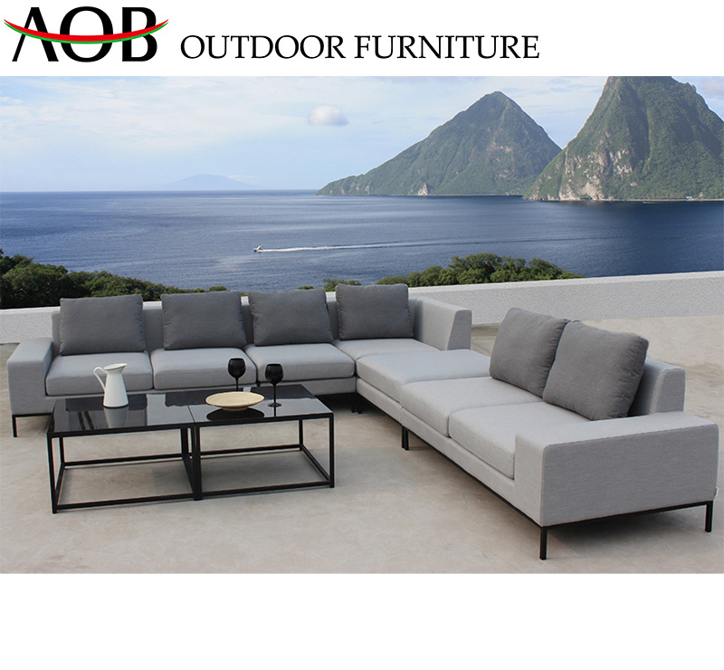 Sensational China Chinese Supplier Modern Outdoor Garden Furniture Sets Fabric Corner Sofa With Square Black Tab Pdpeps Interior Chair Design Pdpepsorg