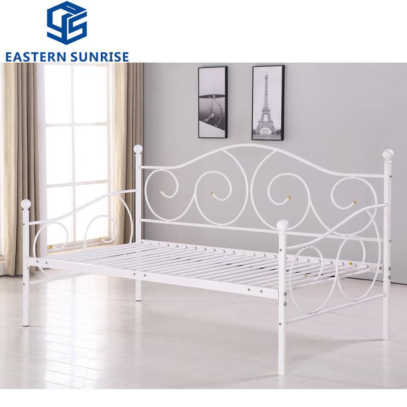Metal Steel Iron Sofa Style Single Bed