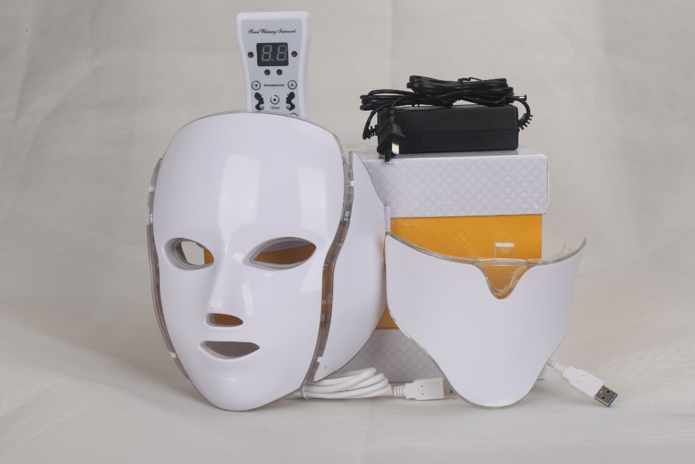 7 Color LED Facial Mask Neck Mask LED Photon Mask for Skin Care