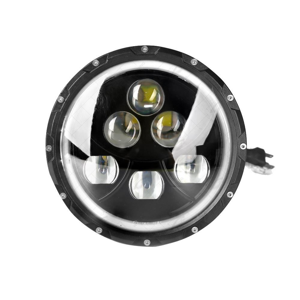 60W Car LED Headlight Round CREE Hi-Lo Beam LED Driving Work Light Jeep Light
