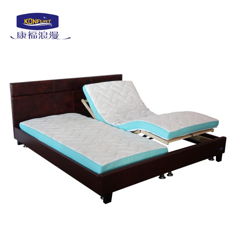King Size Adjustable Bed Birch Wooden Slat Electric Bed Bedroom