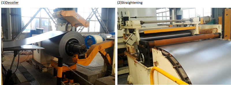 Steel Drum Decoiler, Straightening, Blanking Production Line