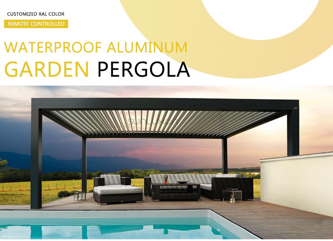 China Aluminium Pergola Automatic Gazebo Pergola Aluminum 4x3 Opening Roof System