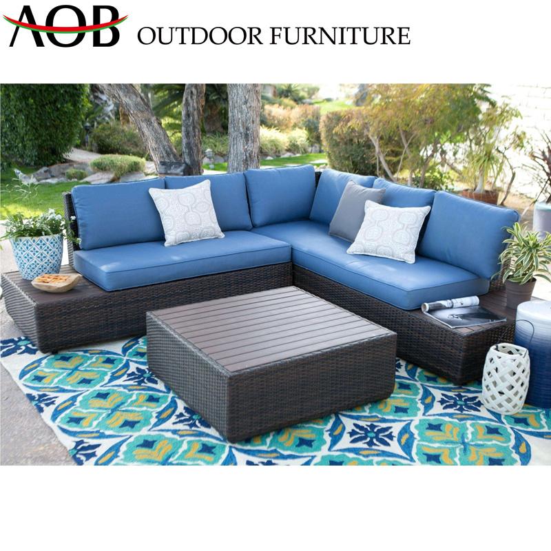 Rattan Wicker Corner Sofa Outdoor Garden Patio Furniture Hotel Modern Sofa Sets