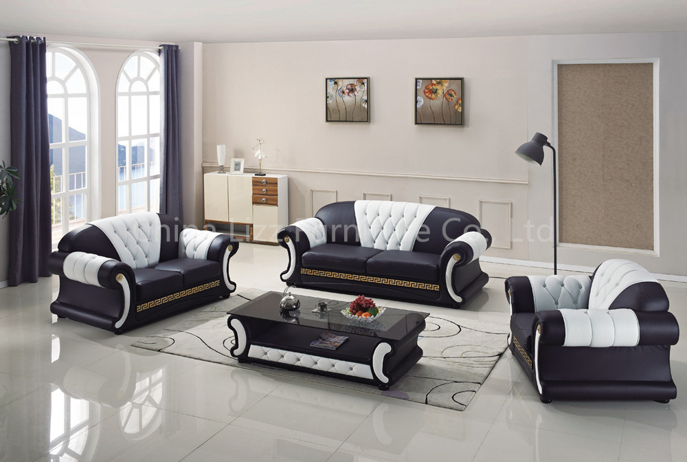 Living Room Chesterfield Leather Sofa