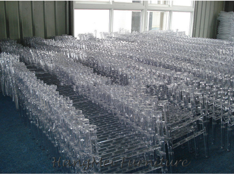 Stacking Wedding Furniture Outdoor Banquet Plastic Resin Chair (HM-R007)