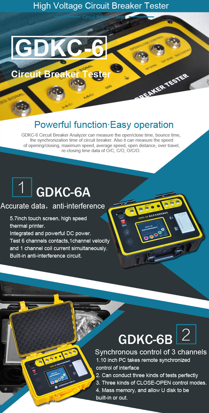China Gdkc 6a High Voltage Circuit Breaker Tester Remote