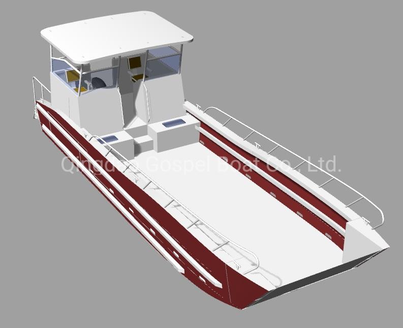 10m Scallop Farming Aluminum Landing Craft Work Boat