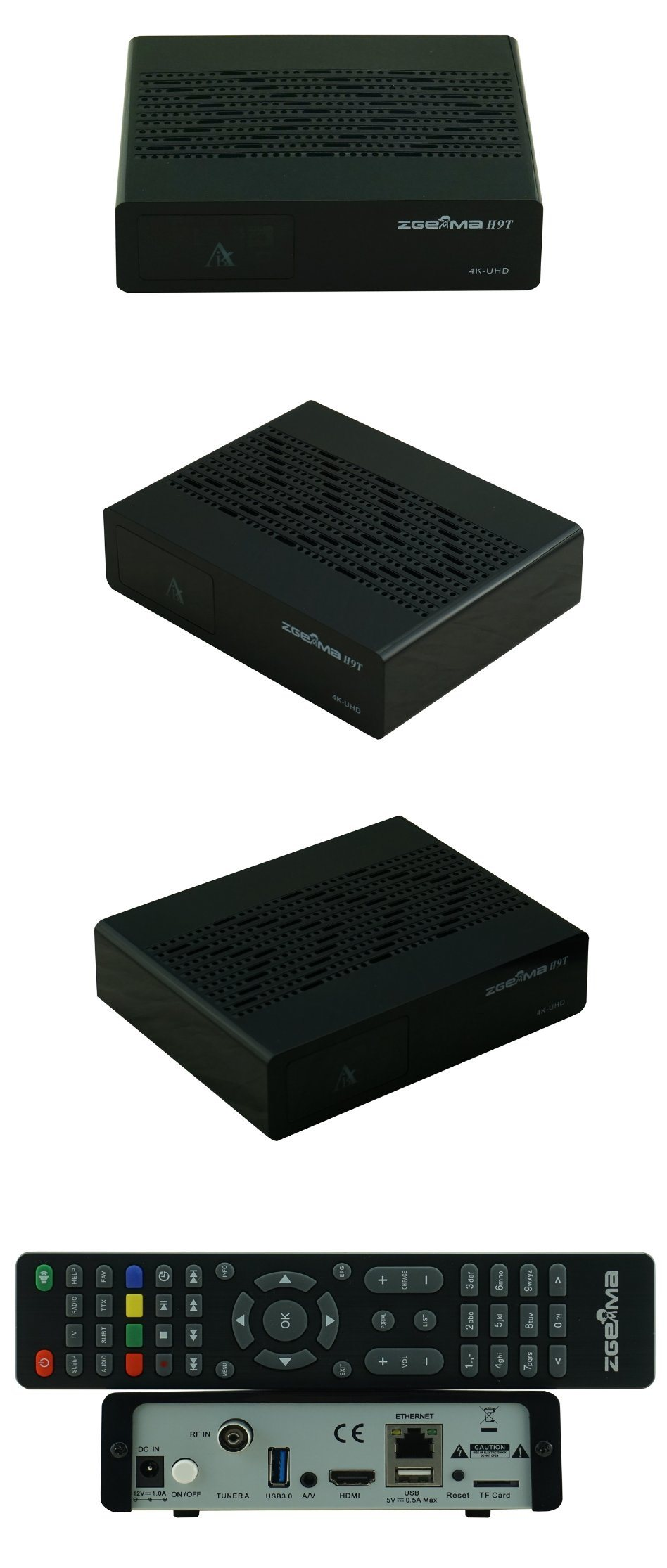 Zgemma H9t with DVB-T2/C Hybrid Tuner 4K UHD Receiver