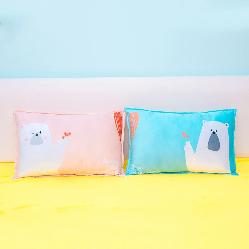الصين المنسوجات المنزلية الكرتون الدب القطبي وسادة الرقبة المحشوة وسادة بالجملة على Topchinasupplier Com