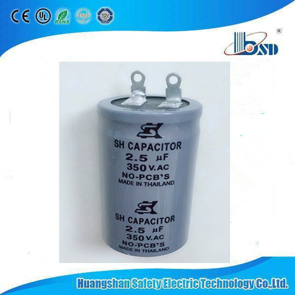 China 2 5uf  350v Sk Fan Capacitors Made In Thailand
