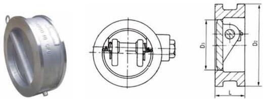 Tilting Disc Wafer Type Swing Check Valve (GAH77H)
