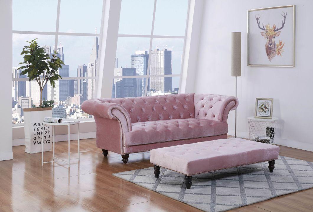 Design Velvet Fabric Chesterfield Sofa