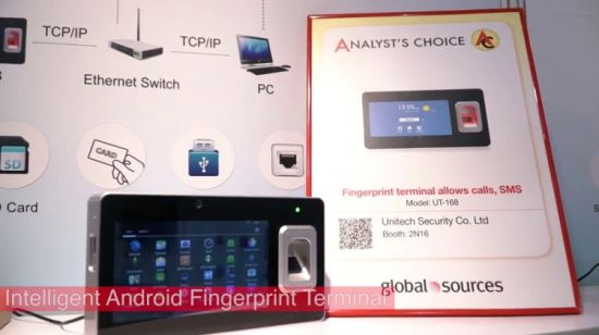 Android Fingerprint Tablet Biometric Time Attendance System with Password  and Reader (UT-168)