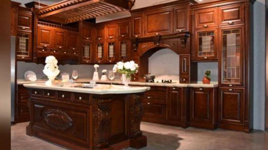 Comercio al por mayor de estilo clásico, Cocina americana de madera maciza  muebles alacena Factory