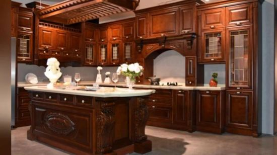 European Style White Mdf Solid Wooden Rta Kitchen Cabinets