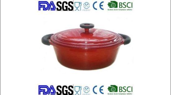 China Oval 4.5qt cacerola de hierro fundido esmaltado