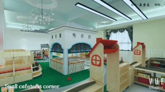 China modern furniture wood material kindergarten school kids