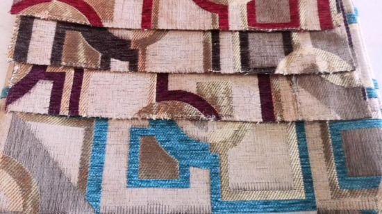 Matt chenille ameublement tapisserie matériau intérieur couleur pourpre tissu