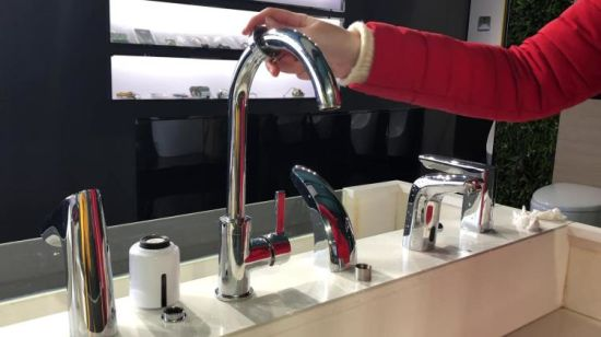 Diy Fast Installation Touchless Water Saving Device For Faucets China Water Saving Tap Automatic Kitchen Faucet Made In China Com