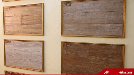 China Waterproof Wood Look Ceramic Porcelain Tile for Floor