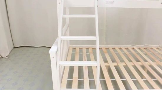 Triple Wood Bunk Bed Modern White For Children China 3 People Bed Kids Wooden Bunk Bed Made In China Com