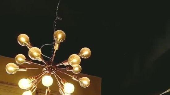 style loft Pendentif éclairage-british made Chrome plafond rose pour designer