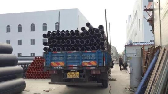 China Higher Flow Capacity HDPE Pipe for Sand Mine Mud Transport