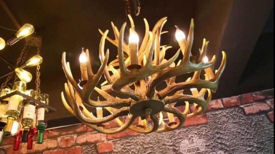 China Real Deer Antler Chandelier Horn