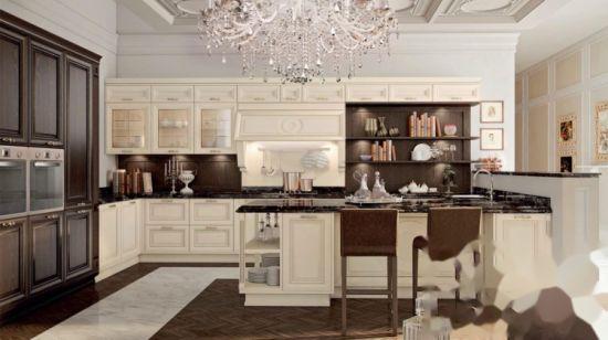 Armadio da cucina reale di legno solido del legname della mobilia di stile  francese classico di lusso domestico di disegno