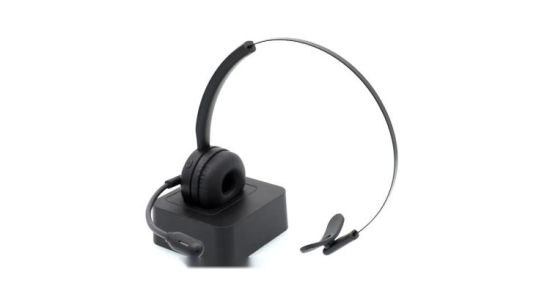 China Bluetooth Mono Headset Wireless Office Bt Intercom Headphone With Charging Base China Best Bluetooth Headset Under 2000 And Best Bluetooth Headset For Music Price